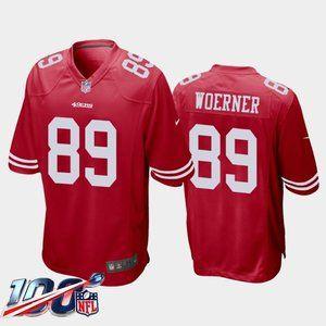 San Francisco 49ers Charlie Woerner Red Jersey